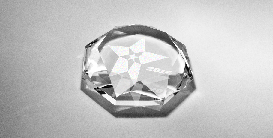 presse papier-diamant-plat-cristal-gravure-blanc