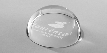 presse-papiers-bulle-loupe-rond-verre-marquage surface-oval