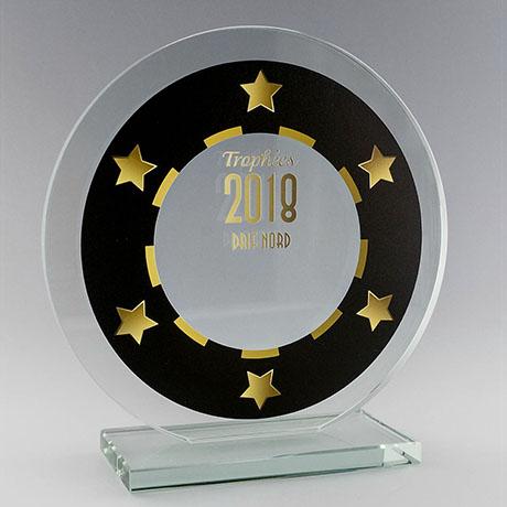 Trophée-verre-rond-marquage-laser-impression-couleur-marin