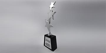 Trophée-verre-Saphir-marquage-impression numérique-étiquette